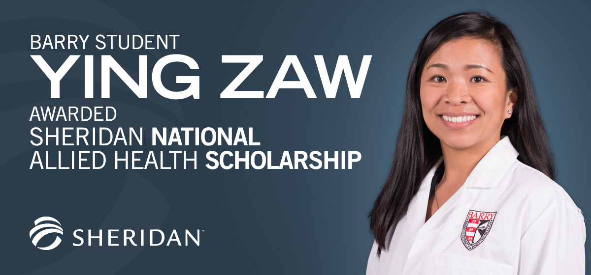 Barry student awarded Sheridan National Allied Health Scholarship