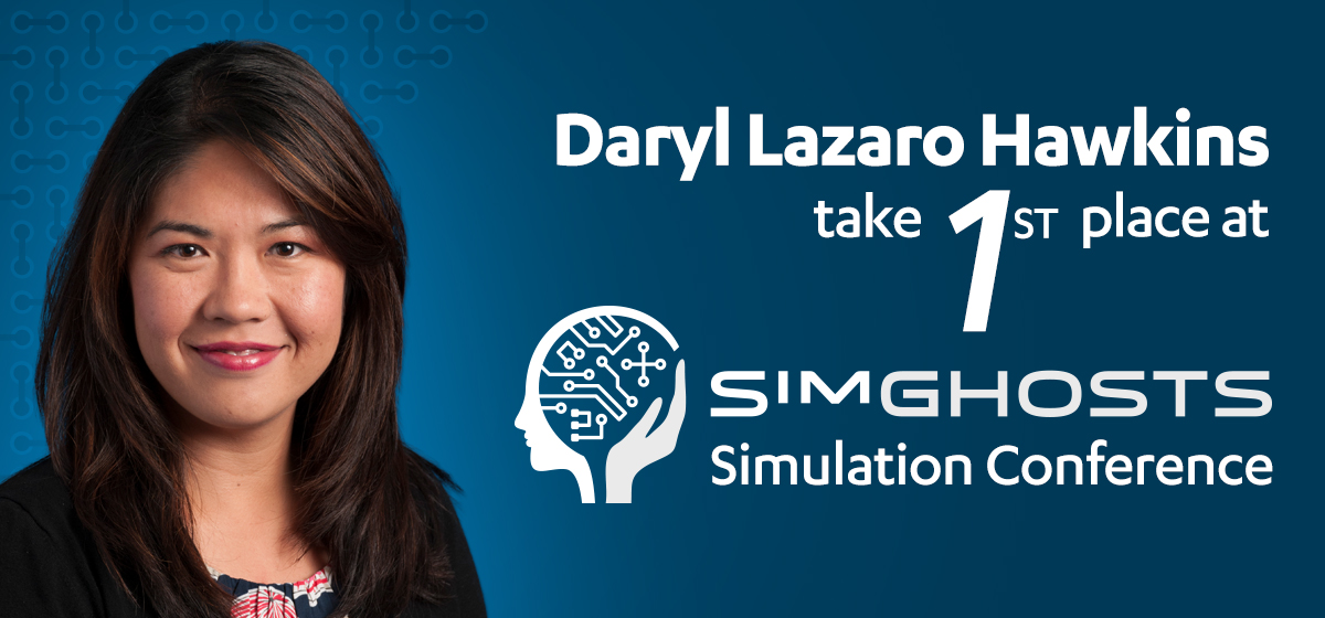 Daryl Lazaro Hawkins takes first place at SimGHOSTS Simulation Conference