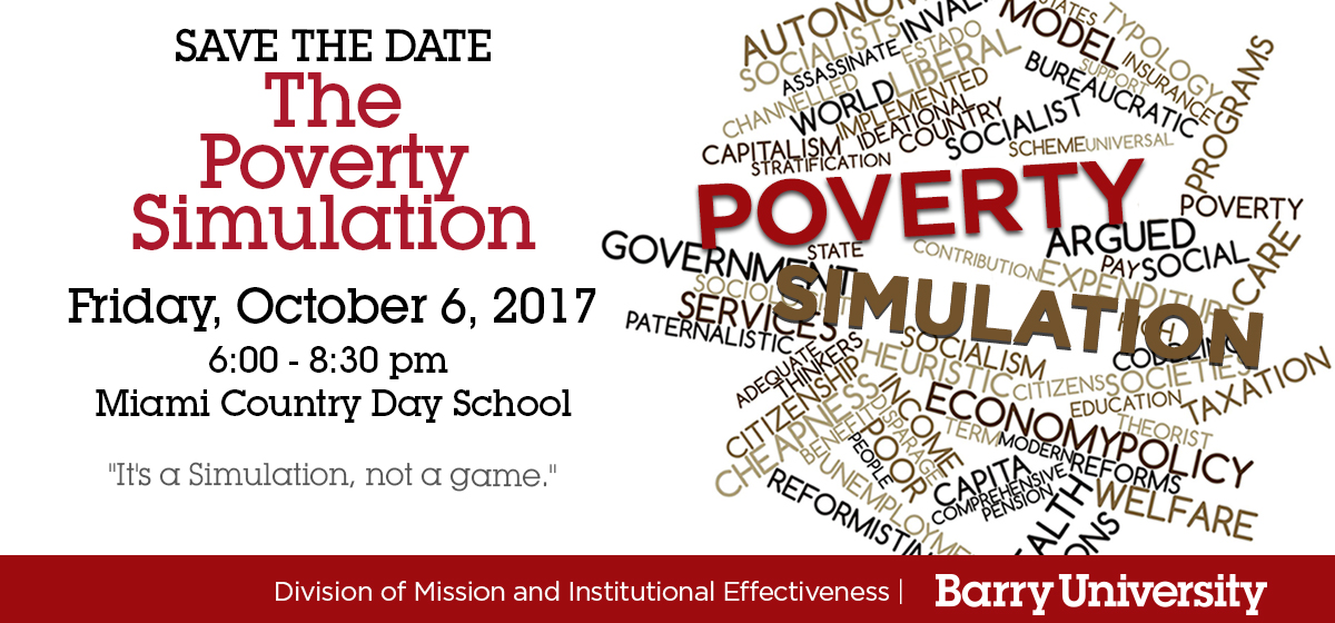 Participate in the Poverty Simulation!