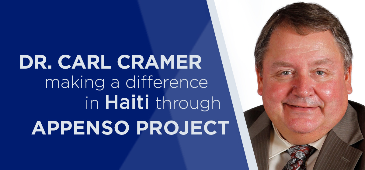 Dr. Carl Cramer making a difference in Haiti through APPENSO Project