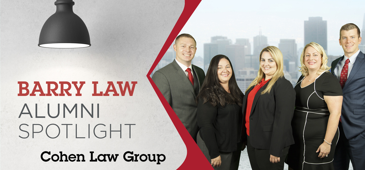 Four Barry Law Alumni Named Partners in the Same Law Firm