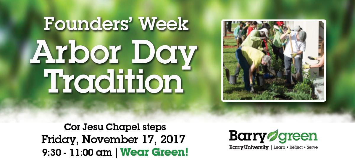 Founders' Week Arbor Day Tradition