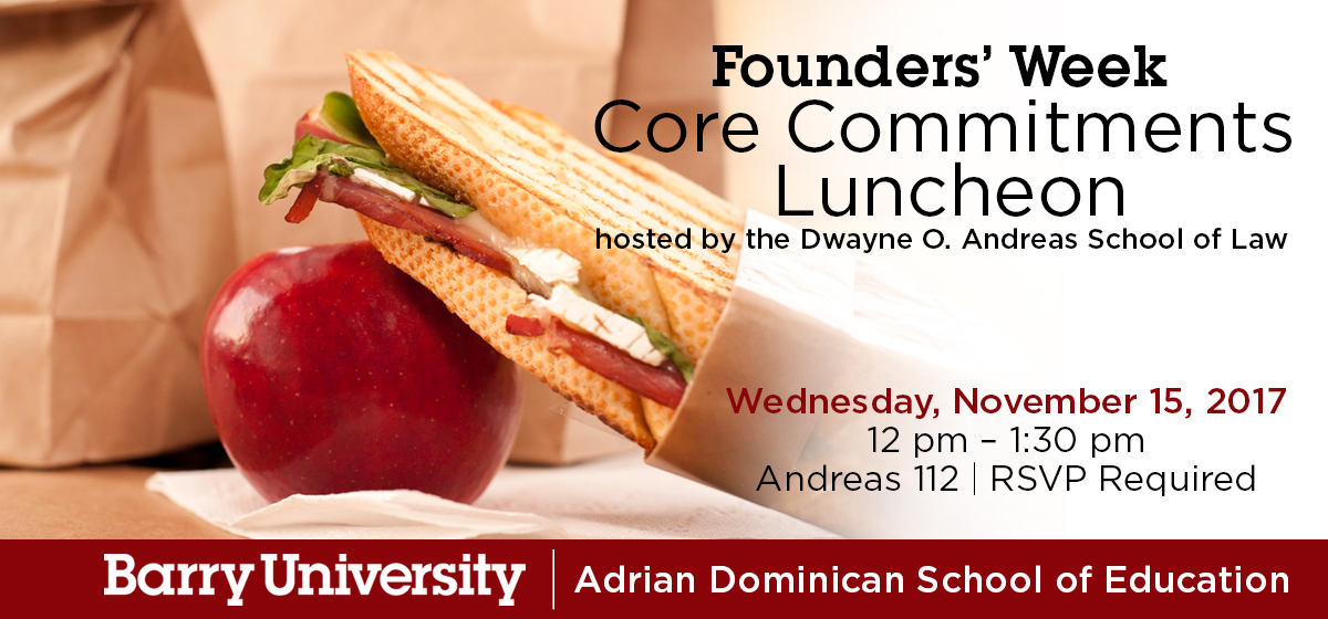 Founders' Week Core Commitments Luncheon