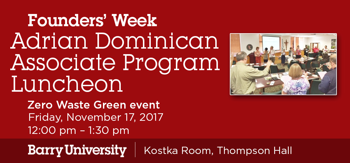 Founders' Week: Adrian Dominican Associate Program Luncheon