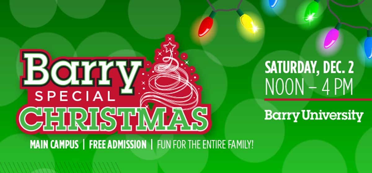 Join us for a Barry Special Christmas, Dec. 2