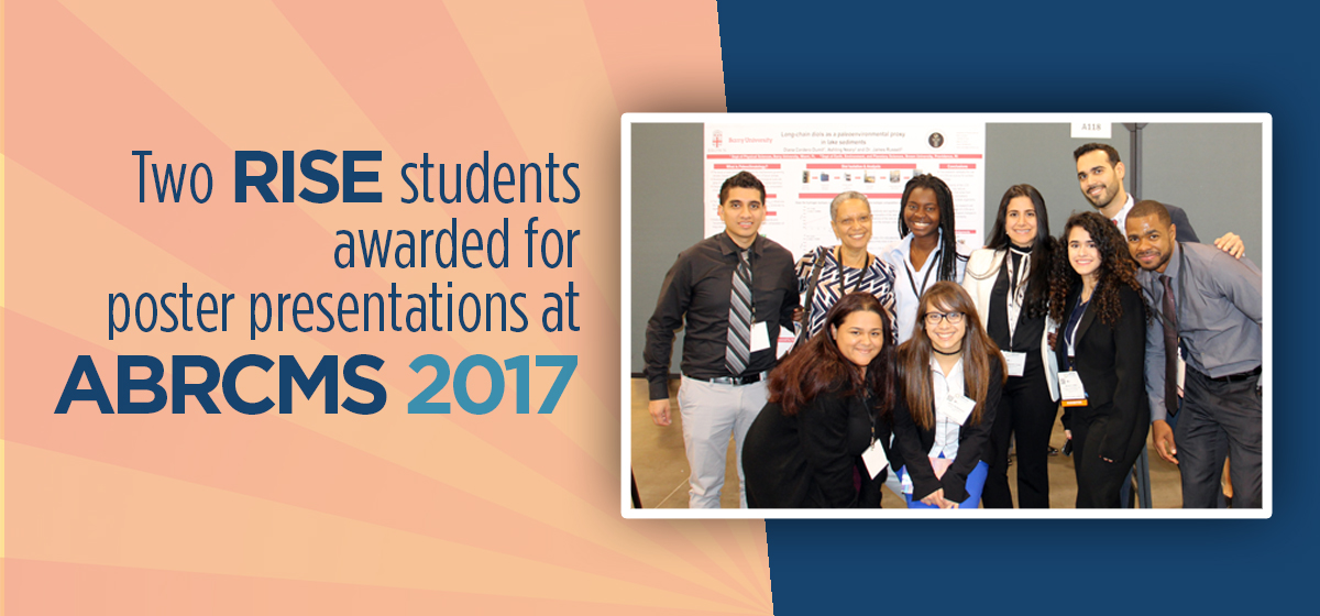 Two RISE students awarded for poster presentations at ABRCMS 2017