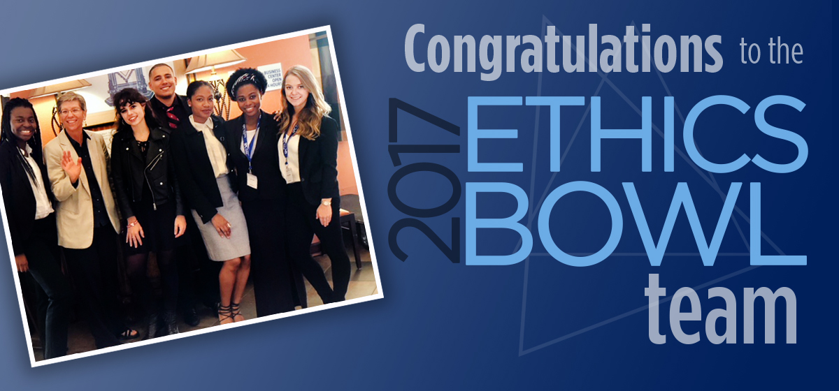 Congratulations to the 2017 Ethics Bowl team!