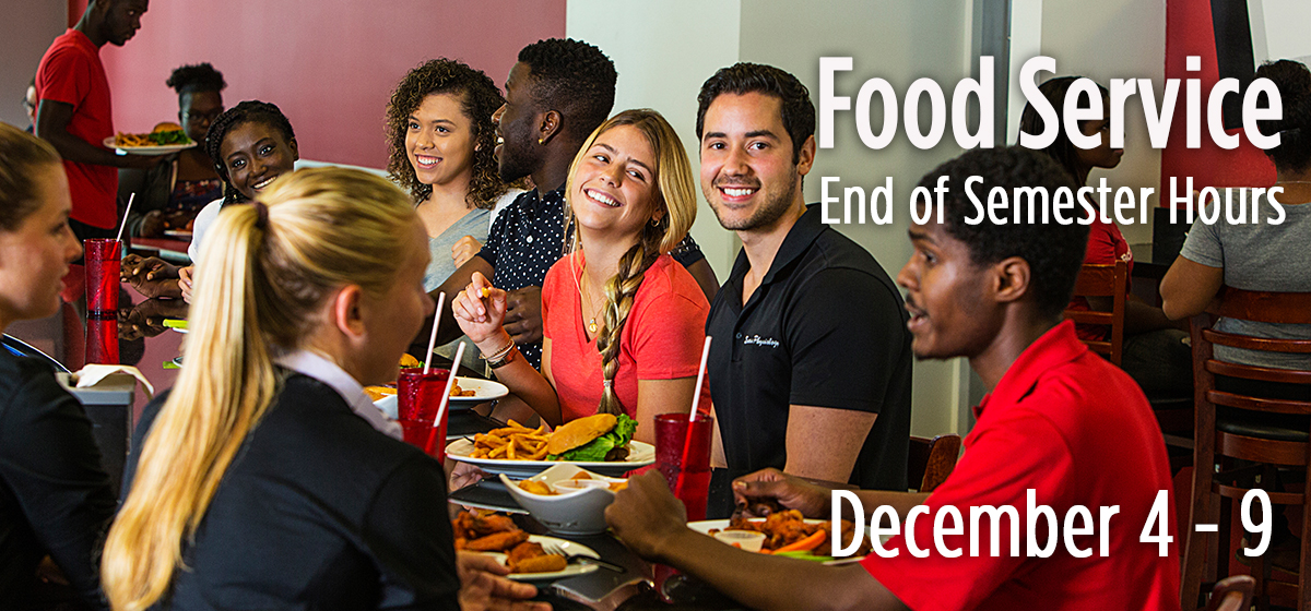Food Service End of Semester Hours of Operation