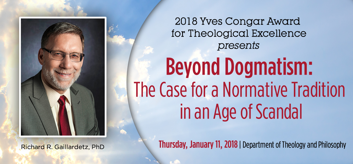 Join us for the 2018 Yves Congar Award, Jan. 11