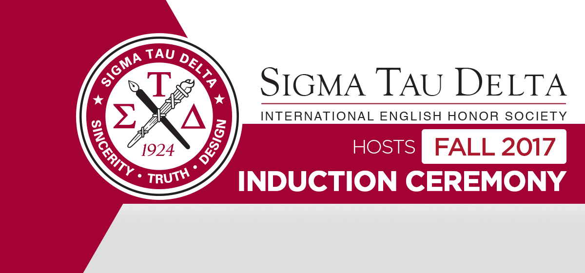 Sigma Tau Delta Hosts Fall 2017 Induction Ceremony