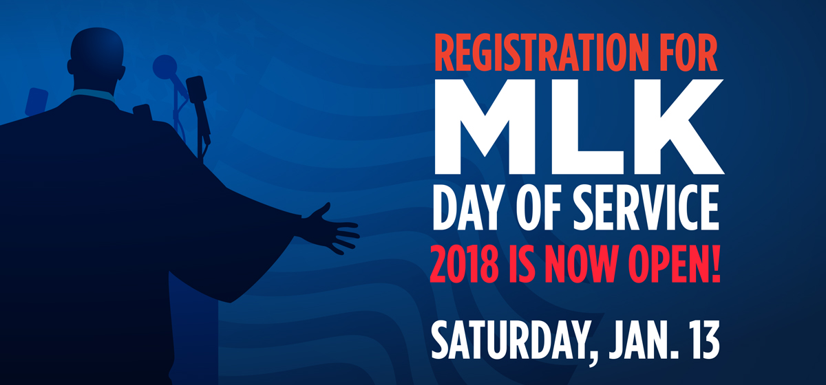 Registration for MLK Day of Service 2018 is now open!