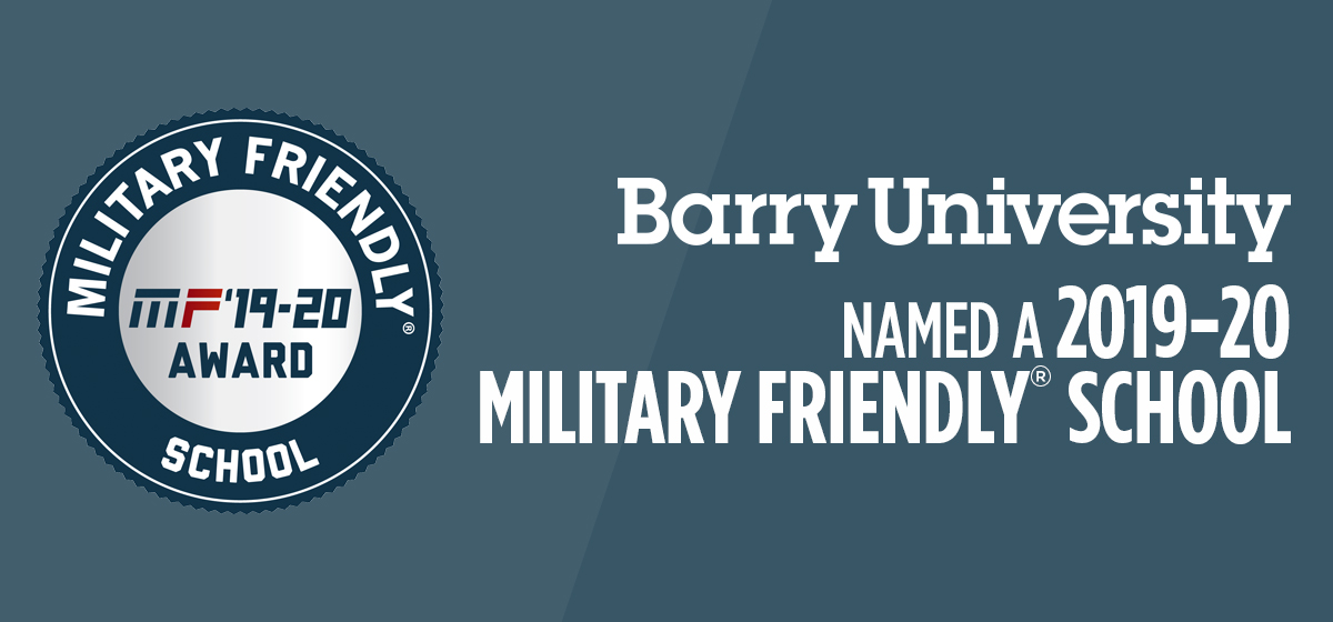 Barry University named​ ​a​ ​2017-18​ ​Military​ ​Friendly​®​ School