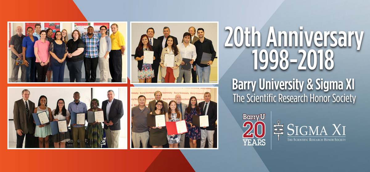20 years of Sigma Xi, The National Research Honor Society on the Barry University Campus