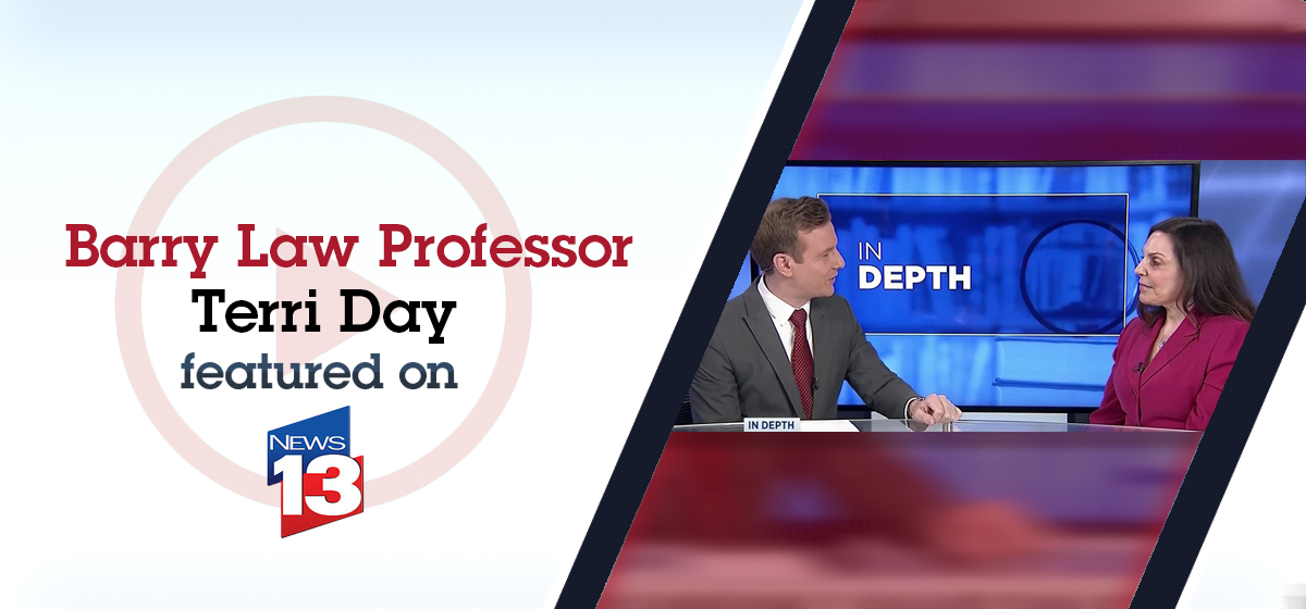 Barry Law Professor Terri Day featured on News13 about Supreme Court ruling in baker case