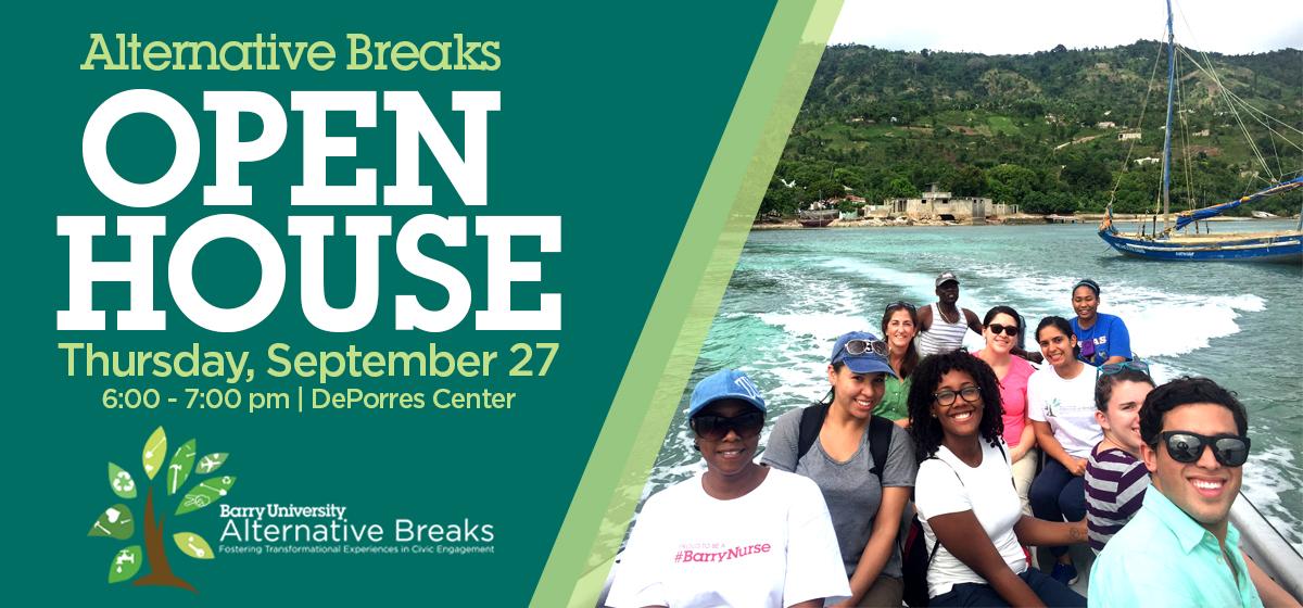 Alternative Breaks Open House
