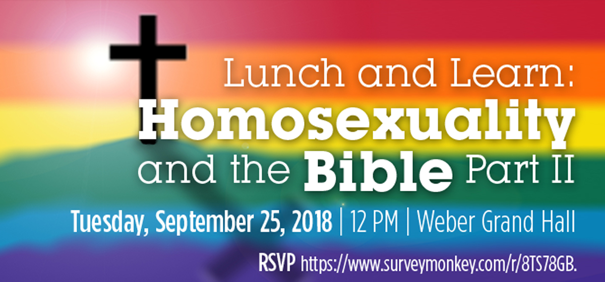 Lunch and Learn: Homosexuality in the Bible Part II