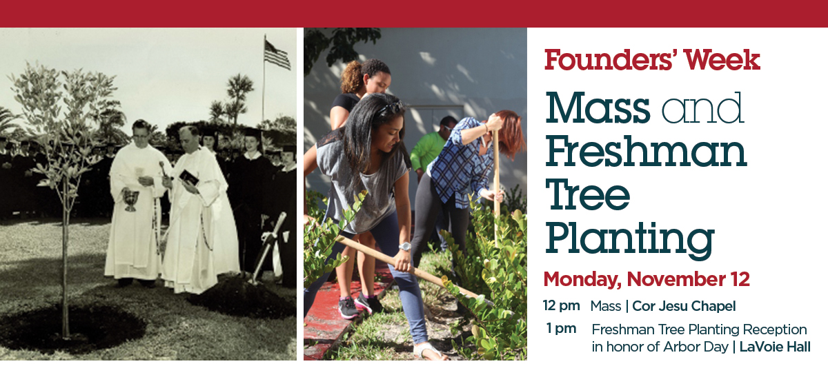 Founders' Week Mass and Freshmen Tree Planting