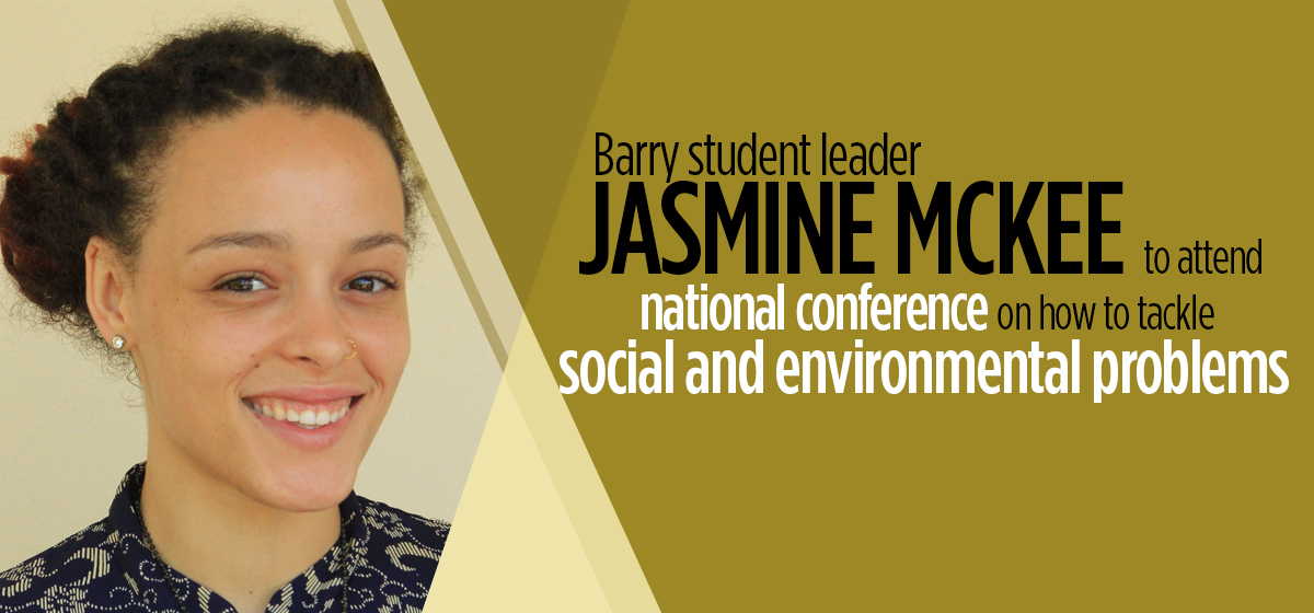 Barry student leader Jasmine McKee to attend national conference on how to tackle social and environmental problems