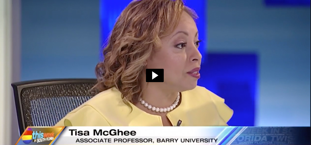 Barry Professor Tisa McGhee Appears on 'This Week in South Florida'