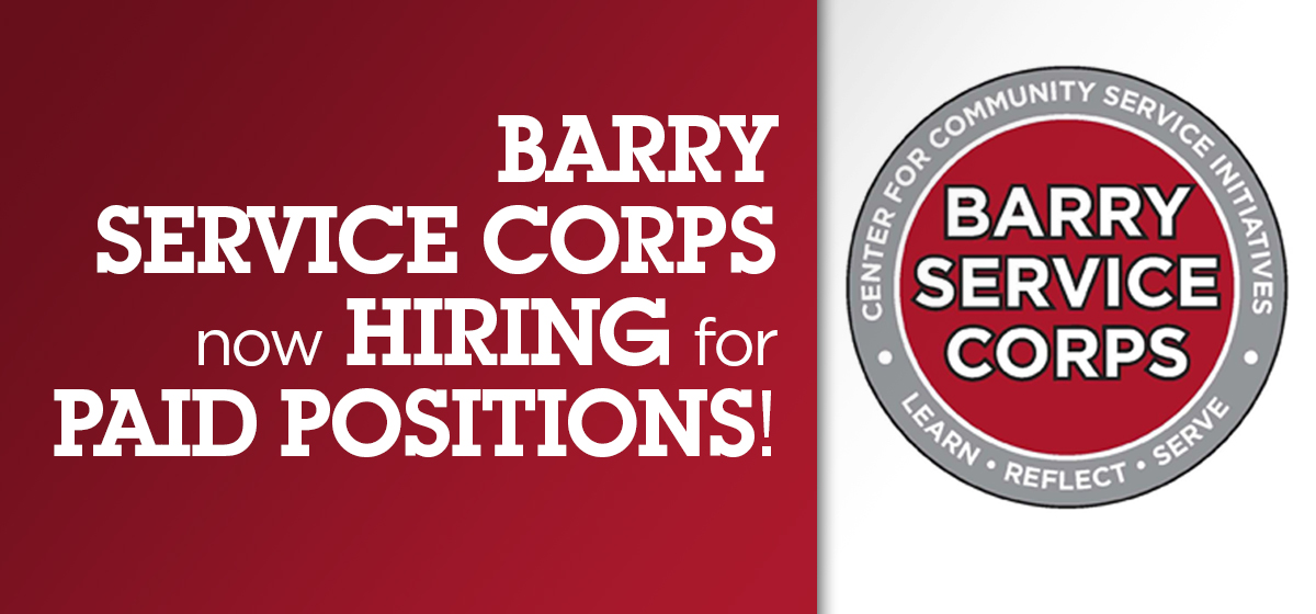 Barry Service Corps Now hiring for paid positions!