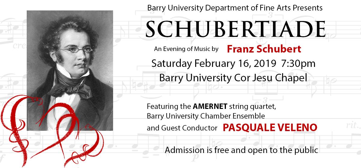 Barry University Department of Fine Arts Presents Schubertiade