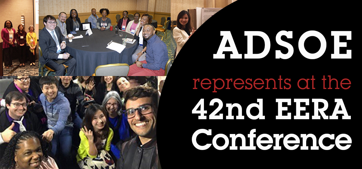 ADSOE represents at the 42nd EERA Conference