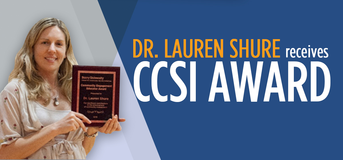 Dr. Lauren Shure Receives CCSI award