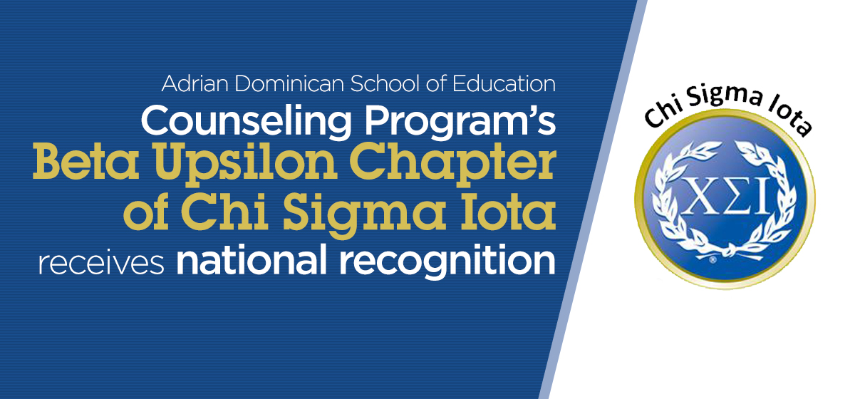 Counseling Program's Beta Upsilon Chapter of Chi Sigma Iota receives national recognition