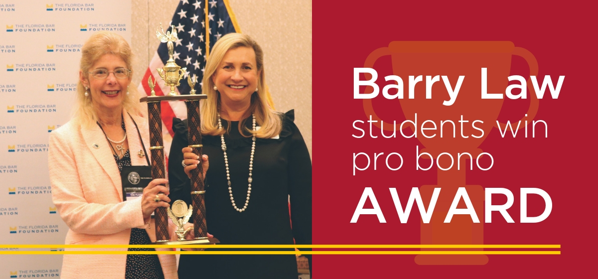 Barry Law Students Receive Pro Bono Award from Florida Bar Foundation