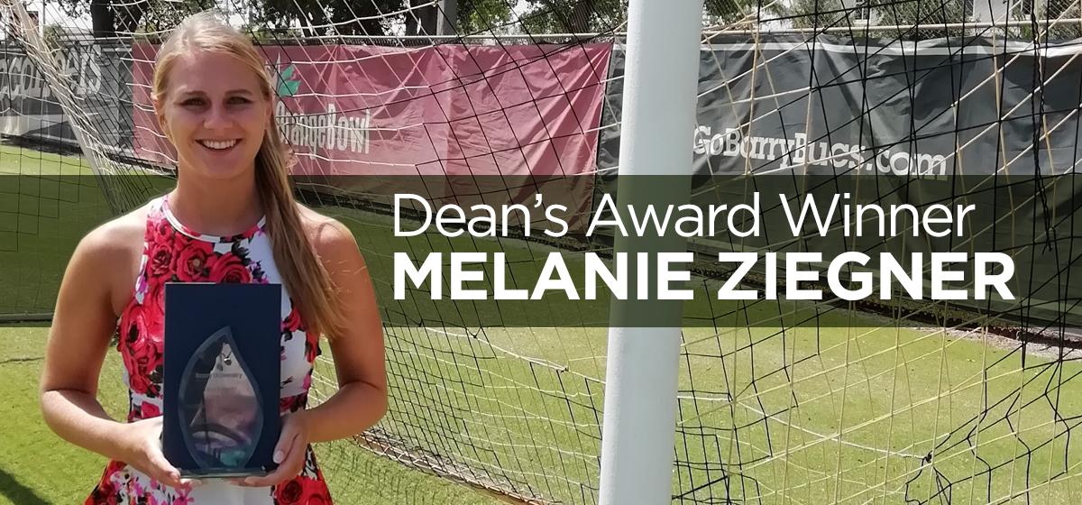 Dean's Award Winner Melanie Ziegner