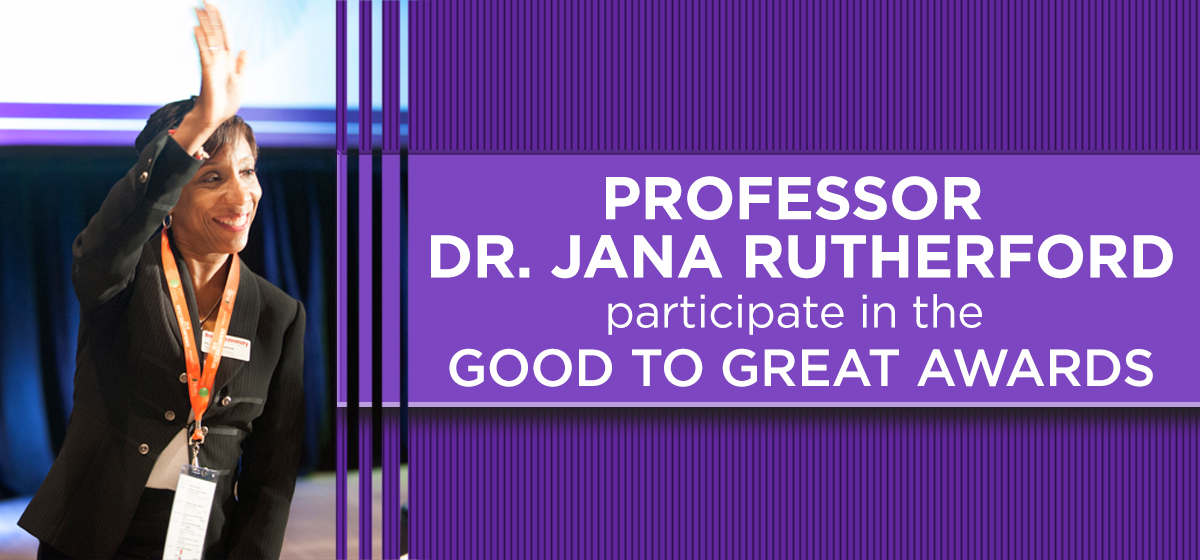 Professor Jana Rutherford a panel judge in June's Good to Great Awards