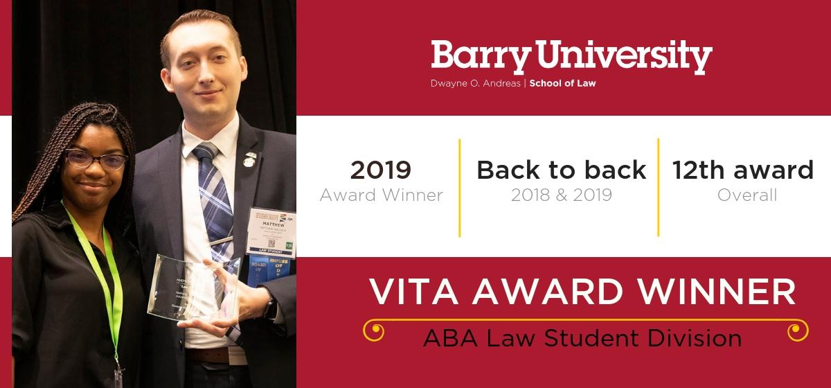 Barry Law Wins VITA Award from ABA
