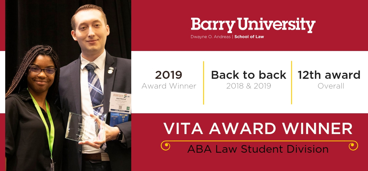 Barry Law Wins VITA Award from ABA