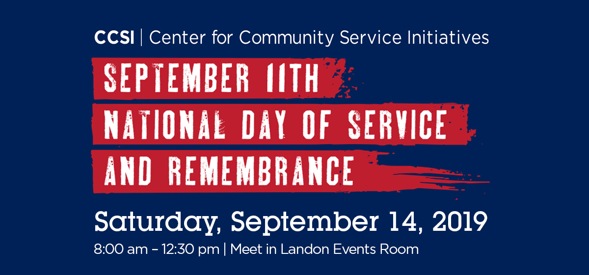 Register Now: 9/11 Day of Service and Remembrance, Sept. 14