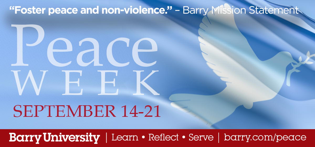 Peace Week 2019 Calendar of Events
