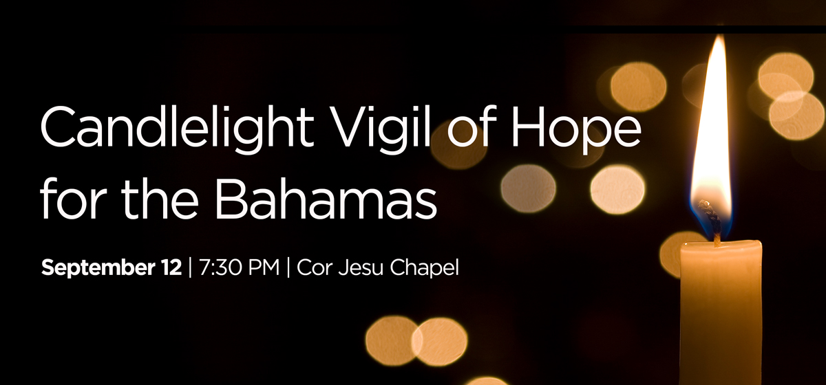 Candlelight Vigil of Hope for the Bahamas