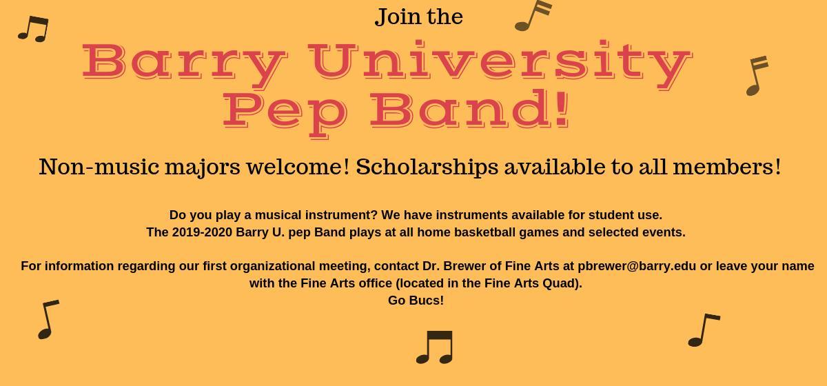 Barry University Pep Band!