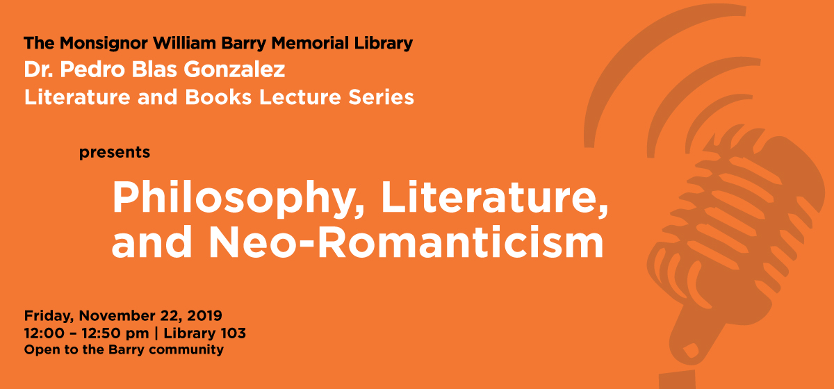 Literature and Books Lecture Series returns Nov. 22