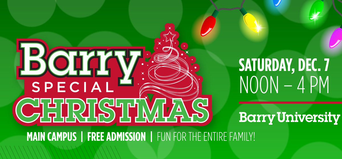 On Dec. 7, celebrate a Barry Special Christmas!