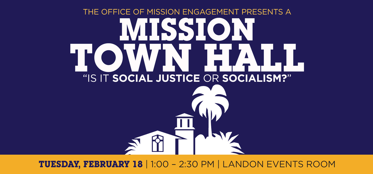 Social Justice Or Socialism? Rsvp For A Mission Town Hall Lunch Discussion