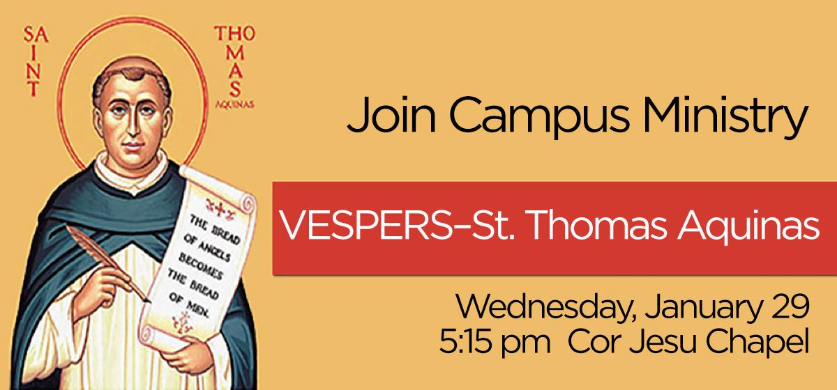 VESPERS -St. Thomas Aquinas