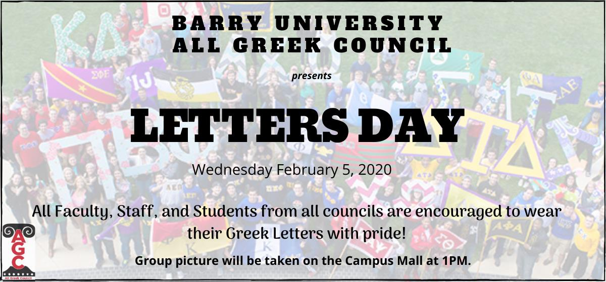 It's Letters Day at Barry. Wear yours with pride.