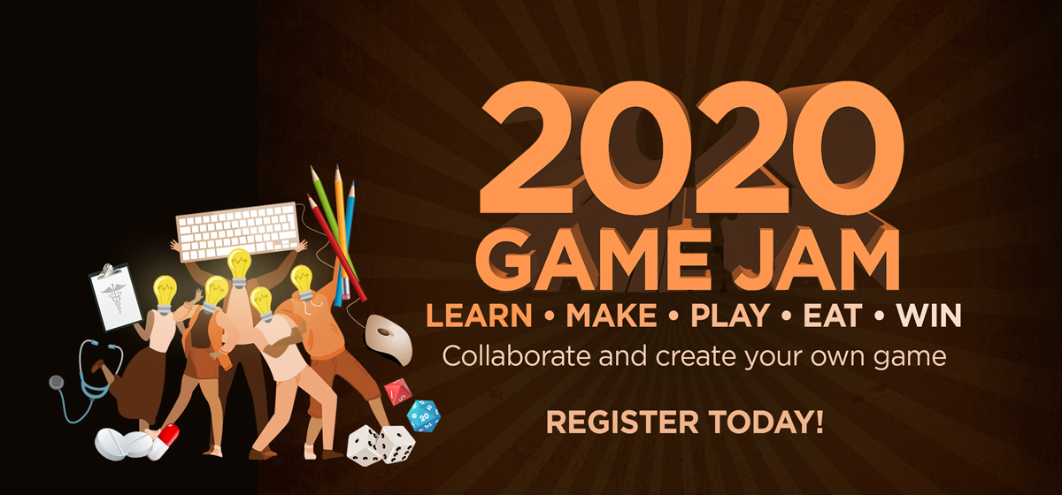 Learn, make, play, eat, and win at 2020 Game Jam