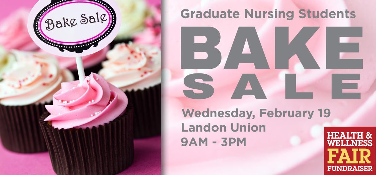 Graduate Nursing Students Bake Sale