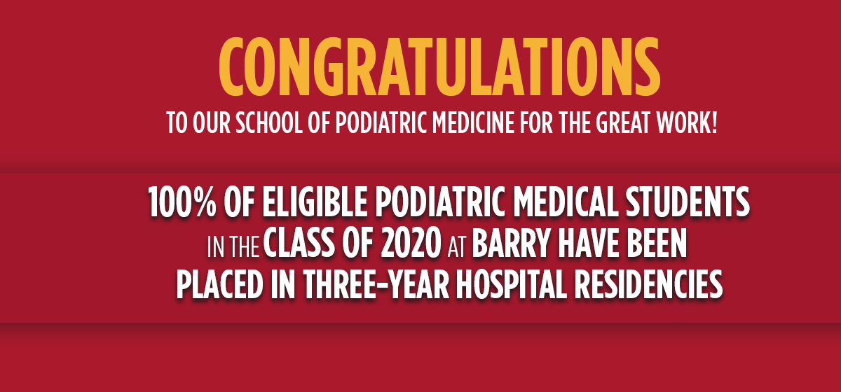 Congratulations to our School of Podiatric Medicine for the great work!