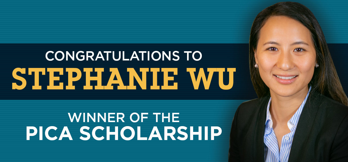 Stephanie Wu is awarded the Podiatry Insurance Company of America Scholarship.