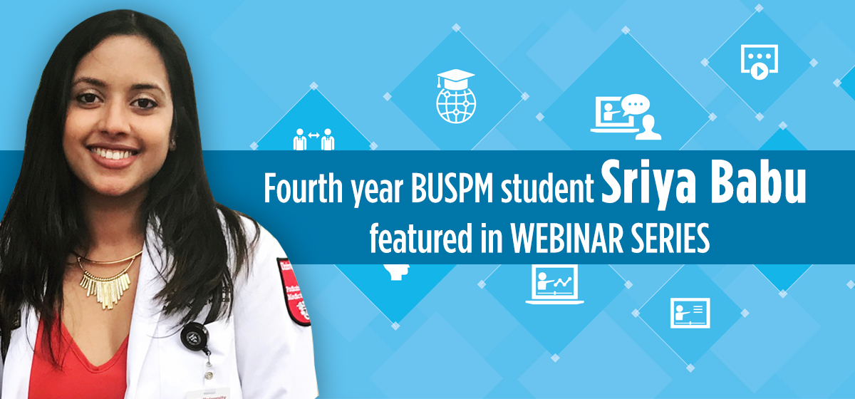 Podiatry Student Sriya Babu Featured in APMA Webinar Series