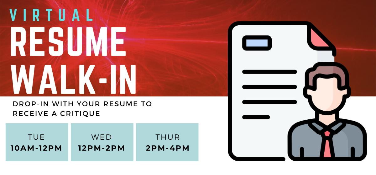 Get feedback on your resume without having to schedule an appointment!