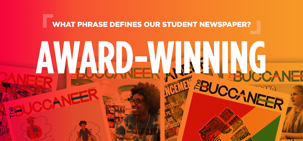 """What Phrase defines our student newspaper? """"Award-Winning"""""""
