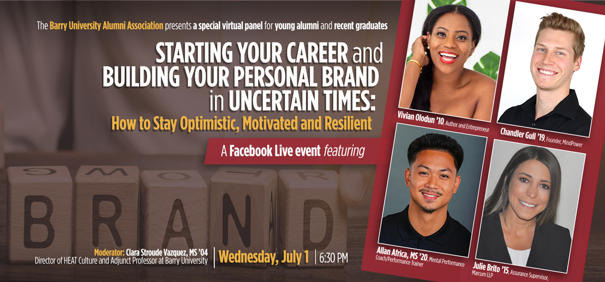 Virtual Panel: Starting Your Career and Building Your Personal Brand in Uncertain Times